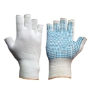 Fingerless Nylon Dotted Gloves