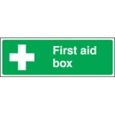 First Aid Box Location Signs