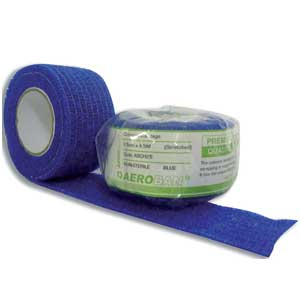 Aeroban Cohesive Blue Bandage