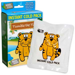 Tumble The Tiger Instant Ice Packs