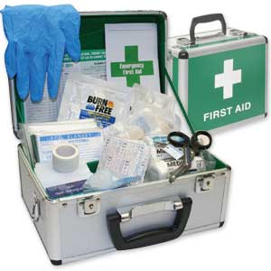 BS-8599-1 Compliant First Aid Kits In Aluminium Cases