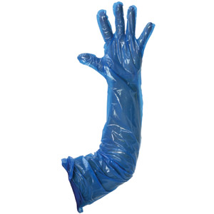 Blue Polythene Gauntlets